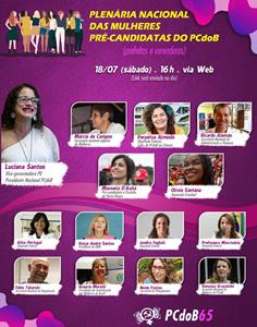 PCdoB reúne pré-candidatas neste sábado na Plenária da Mulher