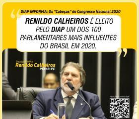 Renildo Calheiros está entre os 100 mais influentes do Congresso Nacional