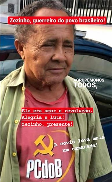 PCdoB-PE divulga Nota de Pesar pelo falecimento de Zezinho